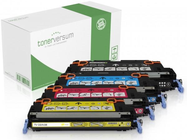 Alternativ zu Canon CEXV26 Toner Multipack CMYK (4er Set)