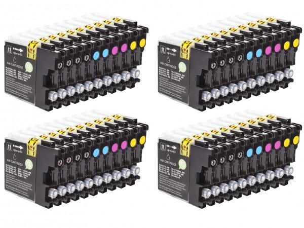 Alternativ zu Brother LC-980 Tinten Multipack CMYK (40er Set)