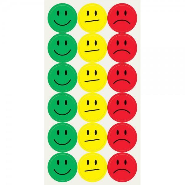 Sigel MU171 Klebepunkte mit Smileys 20 mm mehrfarbig (10 Bögen a 18 Stück)