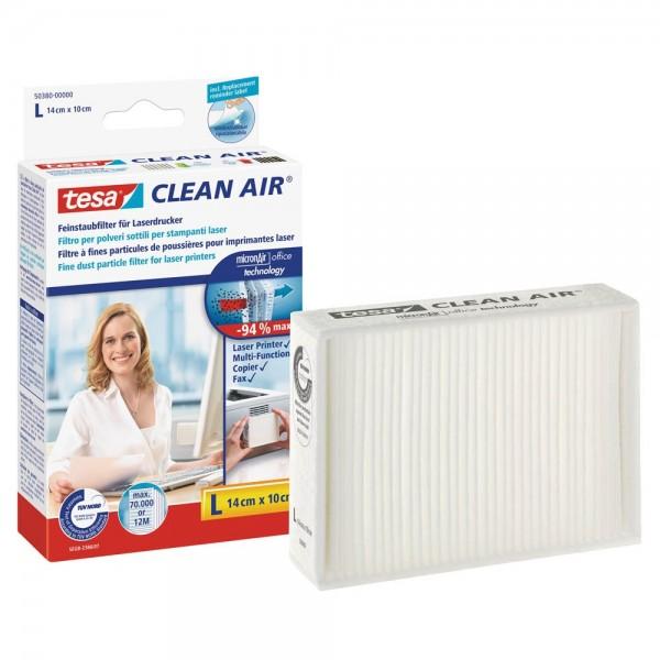 Tesa Clean Air 50380 Feinstaubfilter für Laserdrucker, Kopierer und Fax (Größe L)