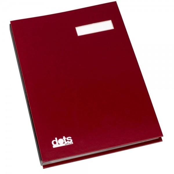 dots Unterschriftenmappe DIN A4 rot (20 Fächer)