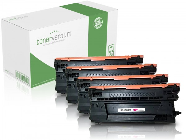 Alternativ zu HP CF470X CF471X CF472X CF473X / 657X Toner Multipack CMYK (4er Set)