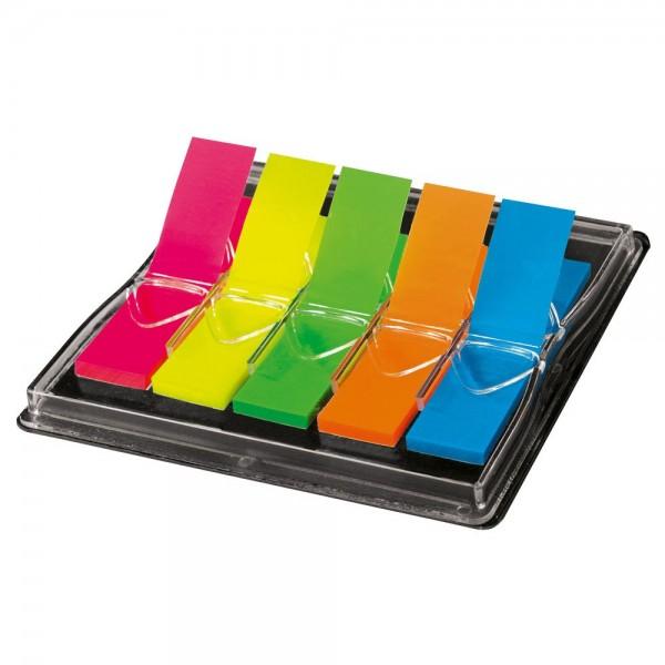 Sigel 381095 Haftmarker im Spender mehrfarbig (5 x 40 Streifen)