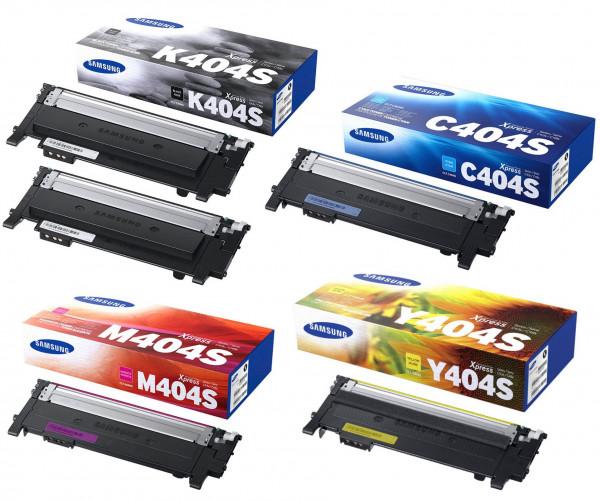 Samsung CLT-P404C / SU365A Toner Multipack CMYK (5er Set)