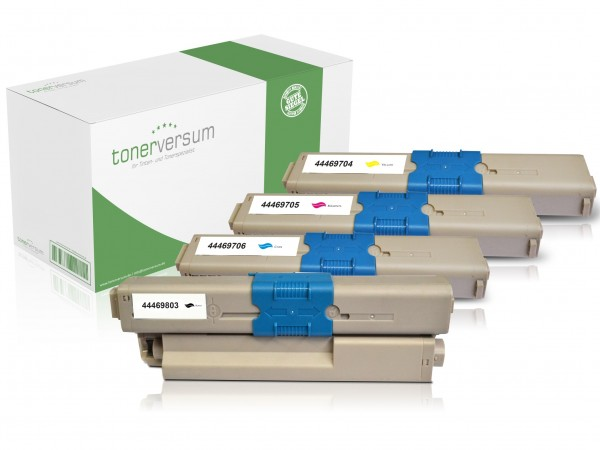 Alternativ zu OKI 44469803 44469704 44469705 44469706 / C310 Toner Multipack CMYK (4er Set)