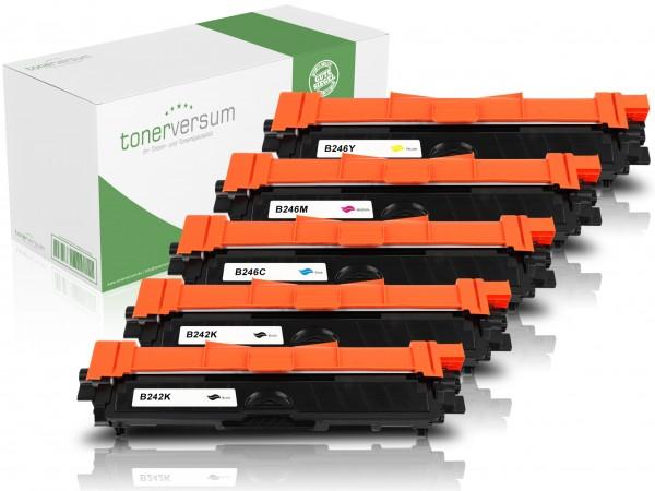 Alternativ zu Brother TN-242 / TN-246 Toner Multipack CMYK (5er Set)