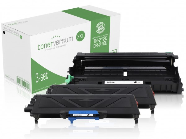 Alternativ zu Brother TN-2120 XXL / DR-2100 Spar-Set (2x Toner / 1x Trommel)