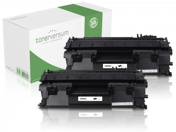 Alternativ zu HP CF280A / 80A Toner Black (2er Pack)