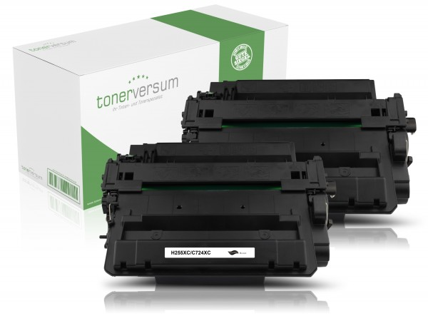 Alternativ zu HP CE255X / 55X Toner Black (2er Pack)