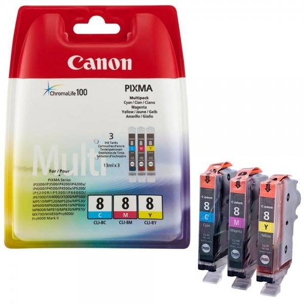 Canon CLI-8 / 0621B029 Tinten Multipack CMY (3er Set)