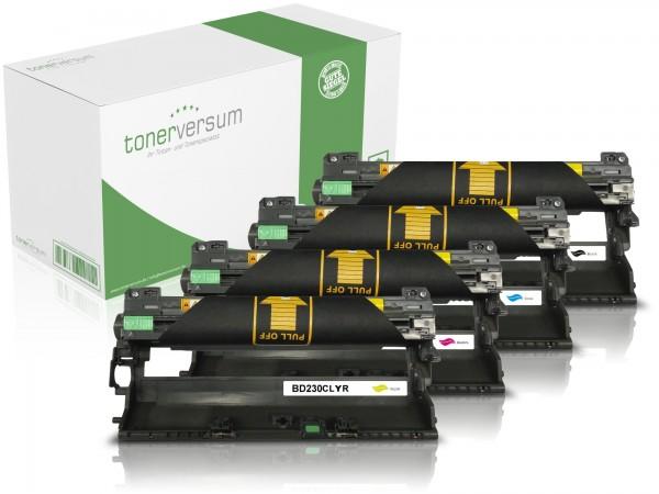Rebuilt zu Brother DR-230CL Bildtrommel Multipack CMYK (4er Set)