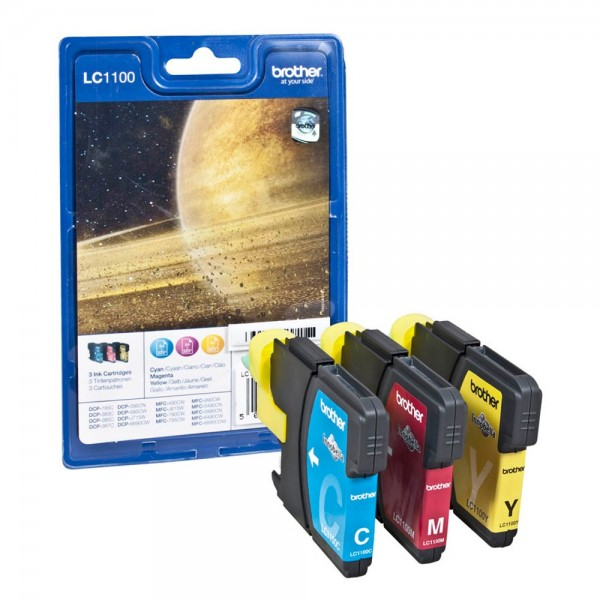Brother LC-1100 Tinten Multipack CMY (3er Set)