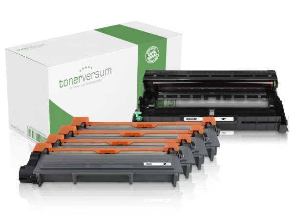 Alternativ zu Brother TN-2320 / DR-2300 Spar-Set (4x Toner / 1x Trommel)