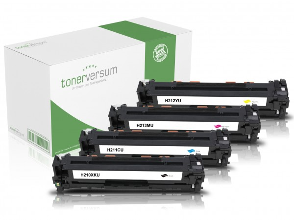 Alternativ zu HP CF210X CF211A CF212A CF213A Toner Multipack CMYK (4er Set)