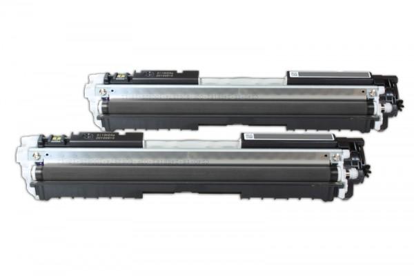 Alternativ zu HP CE310AD / 126A Toner Black (2er Pack)