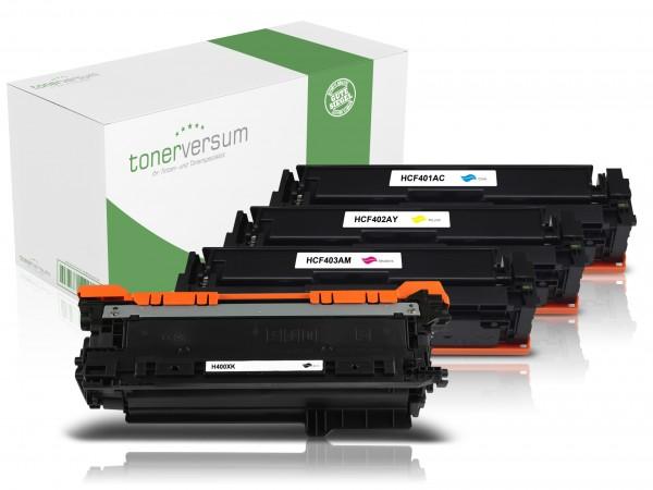Alternativ zu HP CF400X CF401X CF402X CF403X / 201X Toner Multipack CMYK (4er Set)