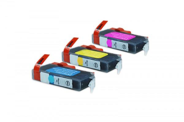 Alternativ zu Canon CLI-526 / 4541B006 Tinten Multipack CMY (3er Set)
