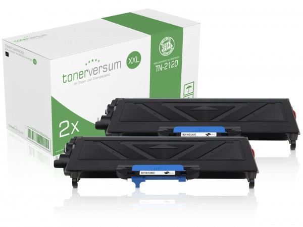 Alternativ zu Brother TN-2120 Toner Black XXL (2er Pack)