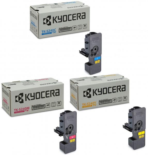 Kyocera TK-5240 Toner Multipack CMY (3er Set)