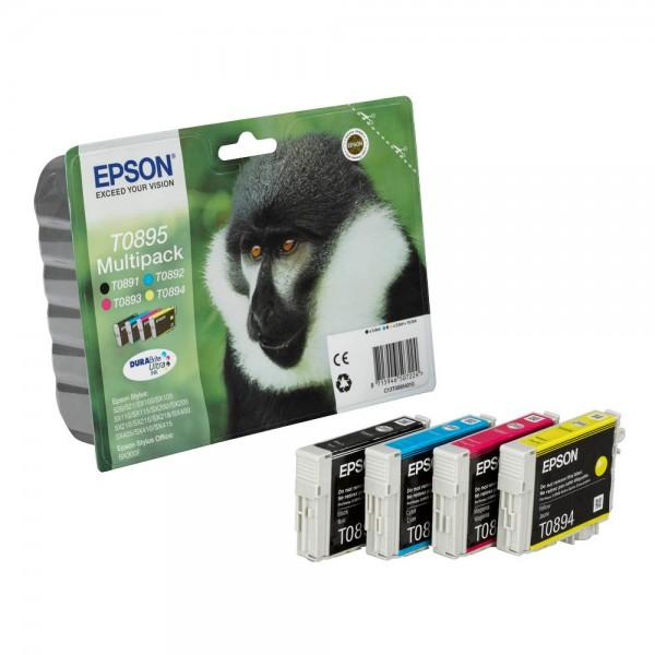 Epson T0895 / C13T08954010 Tinten Multipack CMYK (4er Set)