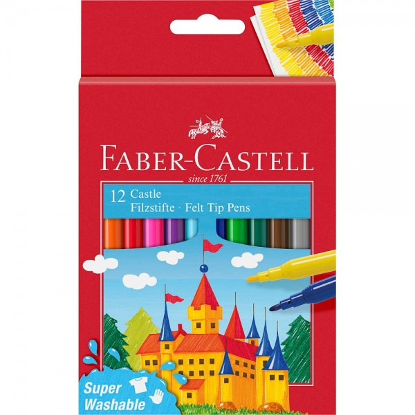 Faber-Castell Filzstifte Rundspitze 1,0 mm (12er Pack)