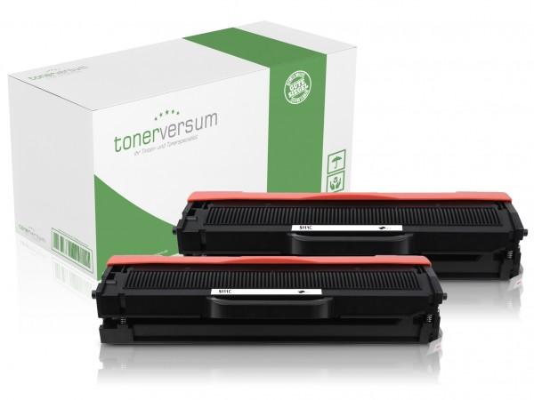 Alternativ zu Samsung MLT-D111S / SU810A Toner Black (2er Pack)