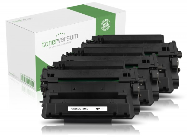 Alternativ zu HP CE255X / 55X Toner Black (3er Pack)
