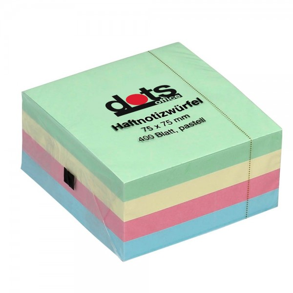 dots Haftnotiz 75x75mm farbsortiert (4er Pack)