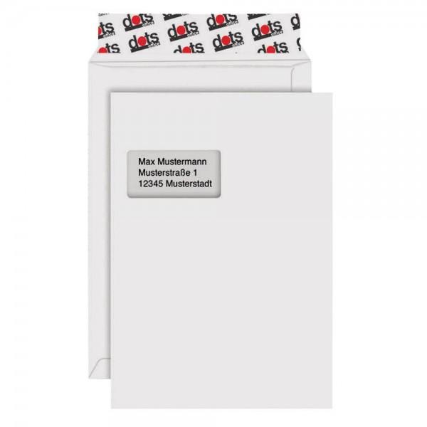 Dots Versandtaschen C4 mit Fenster (100er Pack)