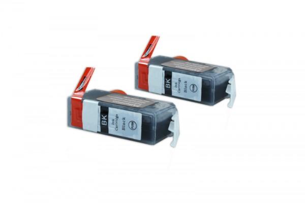 Alternativ zu Canon PGI-525PGBK / 4529B010 Tinte Pigmentschwarz mit Chip (2er Pack)