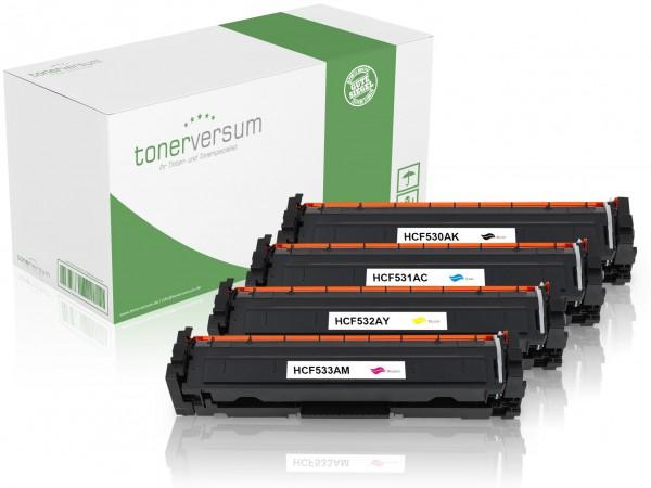 Alternativ zu HP CF530A - CF533A / 205A Toner Multipack CMYK (4er Set)