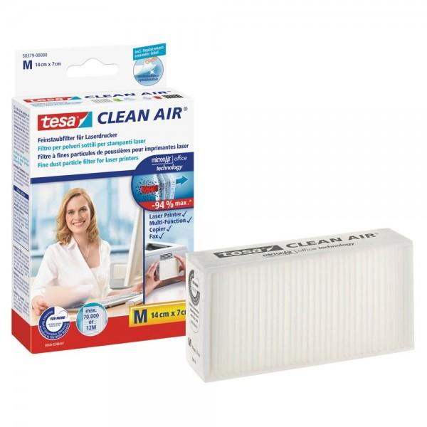 Tesa Clean Air 50379 Feinstaubfilter für Laserdrucker, Kopierer und Fax (Größe M)