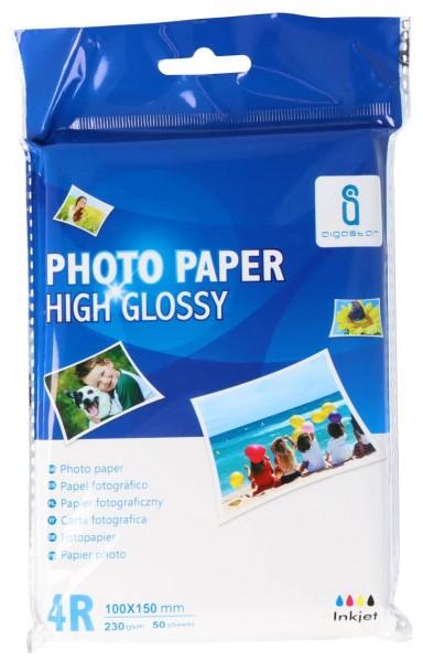 Glossy Fotopapier 10x15cm (230g/m²) 50 Stück