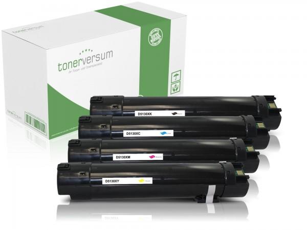 Alternativ zu Dell 593-10925 593-10922 593-10923 593-10924 / 5130 Toner Multipack CMYK (4er Set)