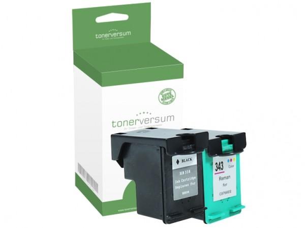 Alternativ zu HP 338 & HP 343 / SD449EE Tinten Multipack (1x Black / 1x Color)
