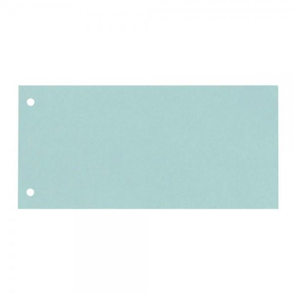 Trennstreifen Karton 2-fach-Lochung blau (100er Pack)