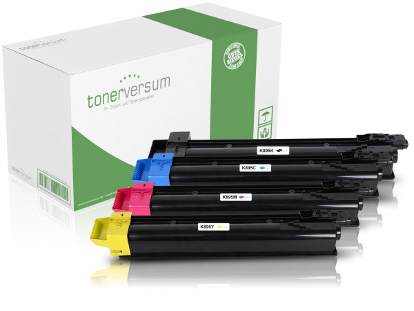 Alternativ zu Kyocera TK-895 Toner Multipack CMYK (4er Set)