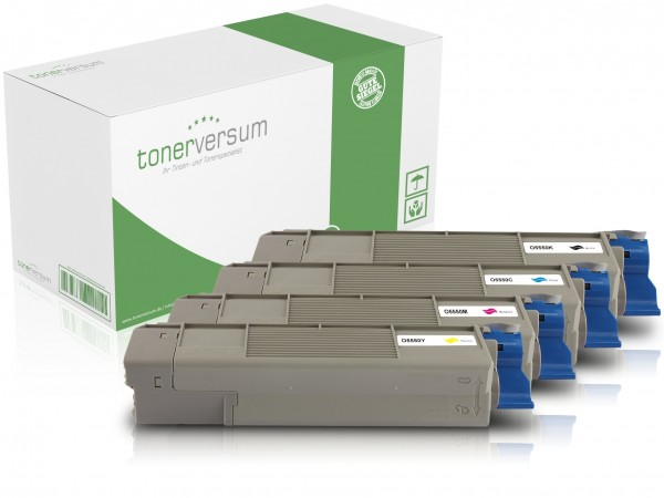 Alternativ zu OKI 43324421-43324424 (C5550) Toner Multipack CMYK (4er Set)