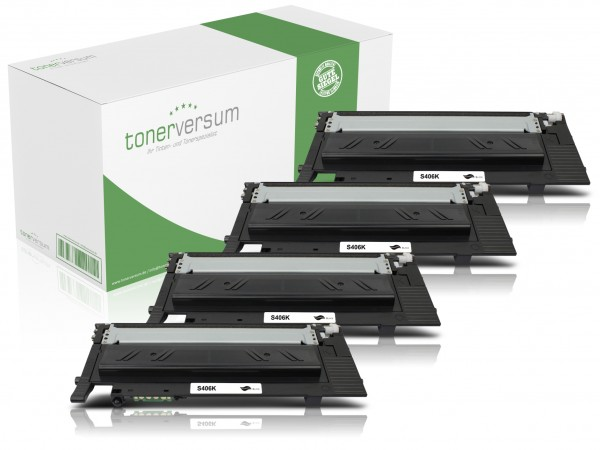 Alternativ zu Samsung CLT-K406S / SU118A Toner Black (4er Pack)