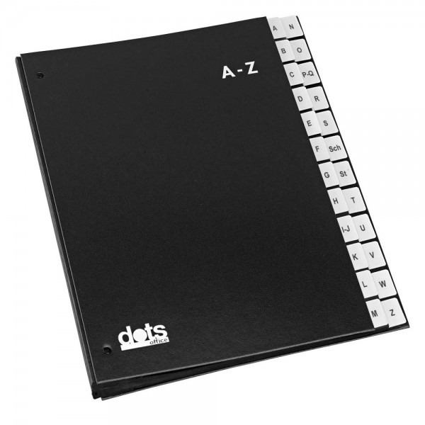 dots Pultordner A-Z schwarz DIN A4 (24 Fächer)