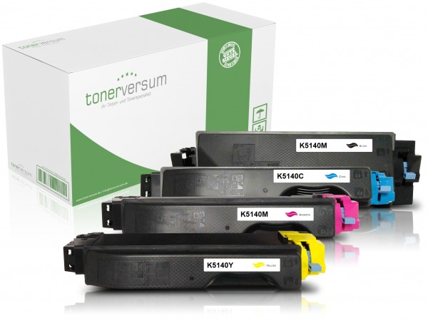 Alternativ zu Kyocera TK-5140 Toner Multipack CMYK (4er Set)