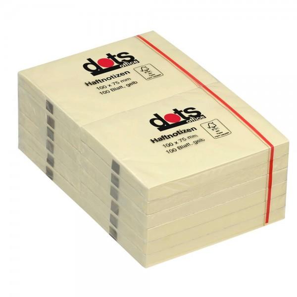 dots Haftnotiz 100x75mm gelb (12er Pack)