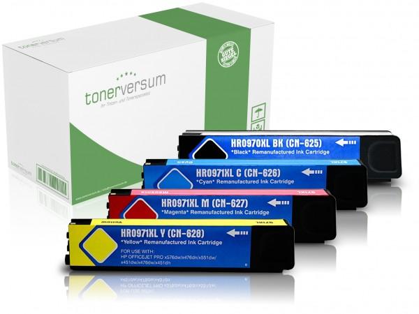 Alternativ zu HP 970 / 971 XL / CN62AE Tinten Multipack CMYK (4er Set)