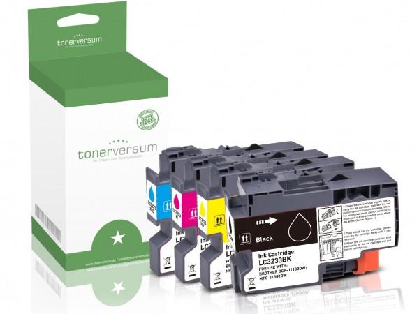 Alternativ zu Brother LC-3233 Tinten Multipack CMYK (4er Set)