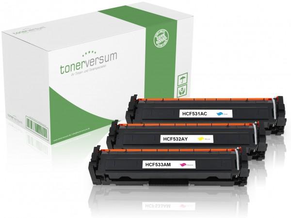 Alternativ zu HP CF531A - CF533A / 205A Toner Multipack CMY (3er Set)