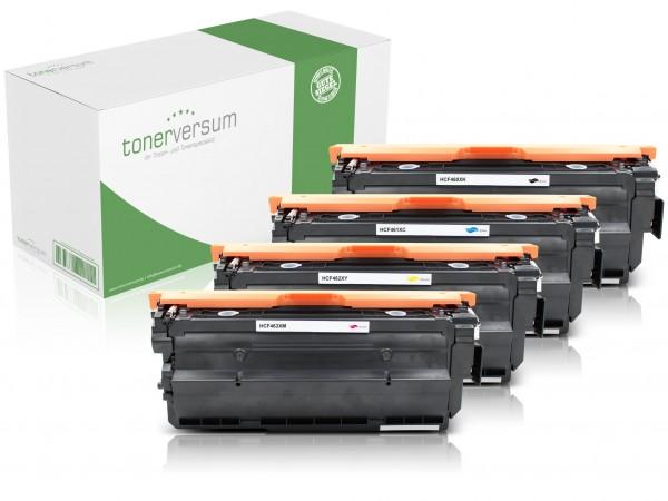 Alternativ zu HP CF460X CF461X CF462X CF463X / 656X Toner Multipack CMYK (4er Set)