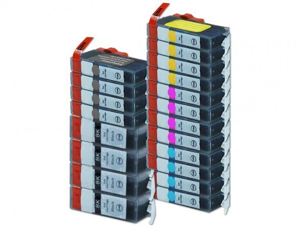 Alternativ zu Canon PGI-525 / CLI-526 Tinten Multipack CMYK (20er Set)