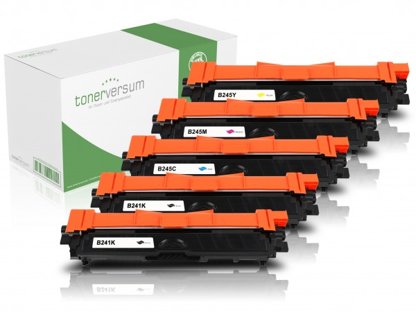 Alternativ zu Brother TN-241 / TN-245 Toner Multipack CMYK (5er Set)