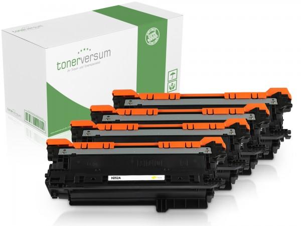 Alternativ zu HP CE250X CE251A CE252A CE253A / 504A / 504X Toner Multipack CMYK (4er Set)