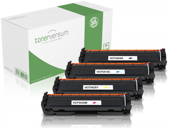 Alternativ zu HP CF540X CF541X CF542X CF543X / 203X Toner Multipack CMYK (4er Set)